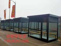 郑州同创吸烟亭不锈钢岗亭厂家 岗亭省去中间环节 不锈钢岗亭厂家