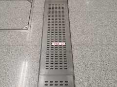 车站不锈钢地沟盖板