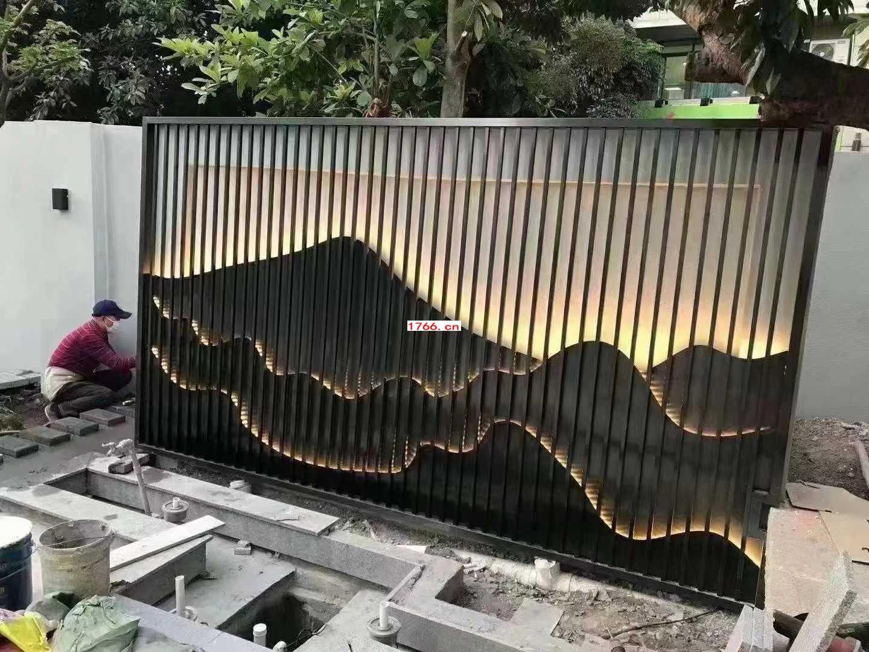 不锈钢山水画