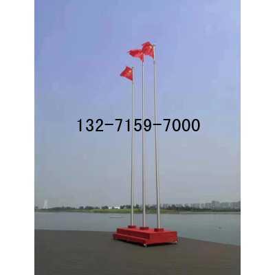 304不锈钢锥形电动旗杆报价表12.8米,12米2支旗杆安装