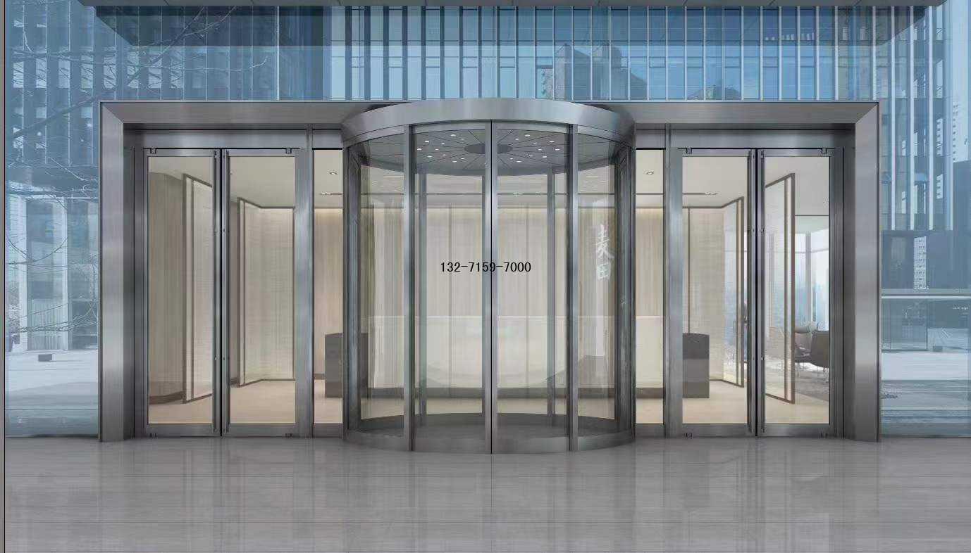 弧形玻璃自动感应门