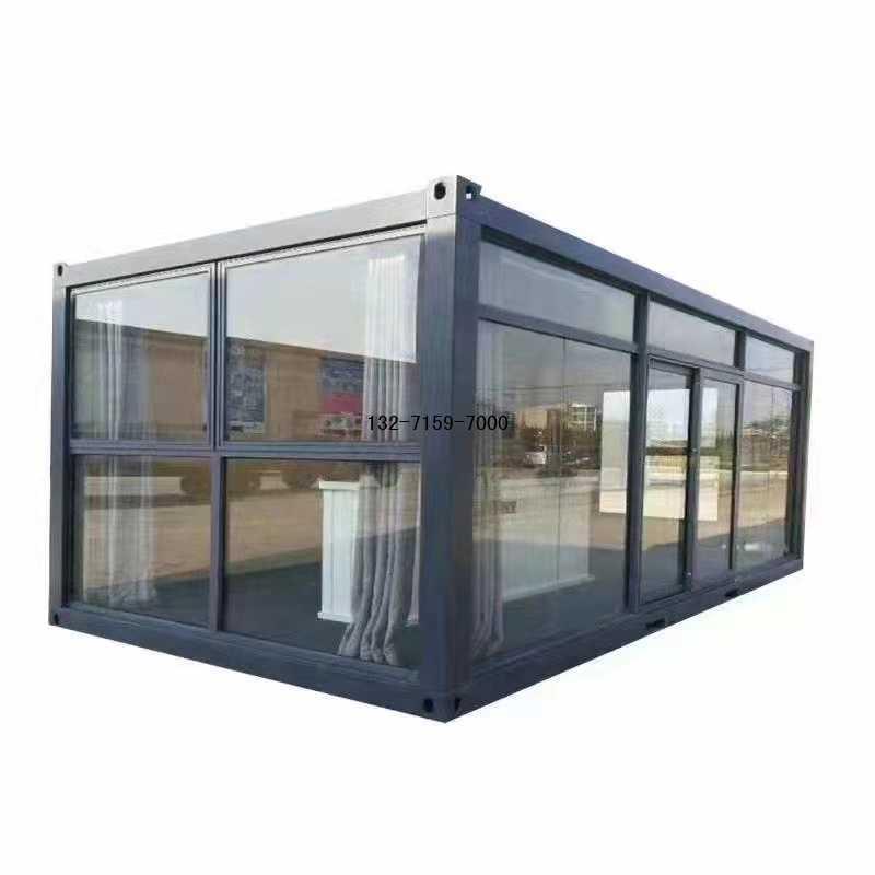 钢化玻璃集装箱办公室